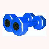 Гантели пластиковые цветные INTER ATLETIKA 1 кг