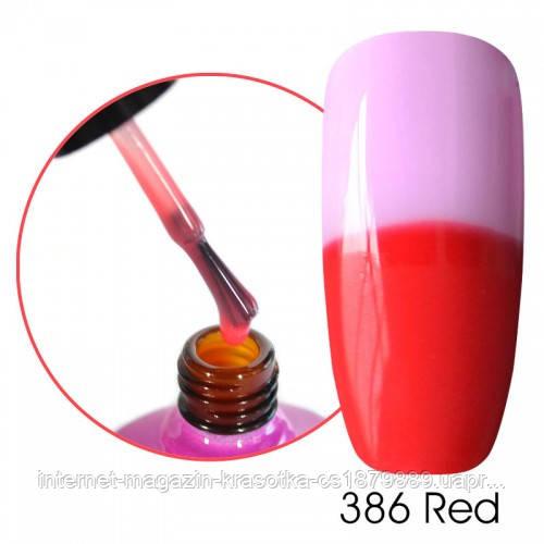 Финишное ТЕРМО покрытие Canni для гель-лака 386 Red
