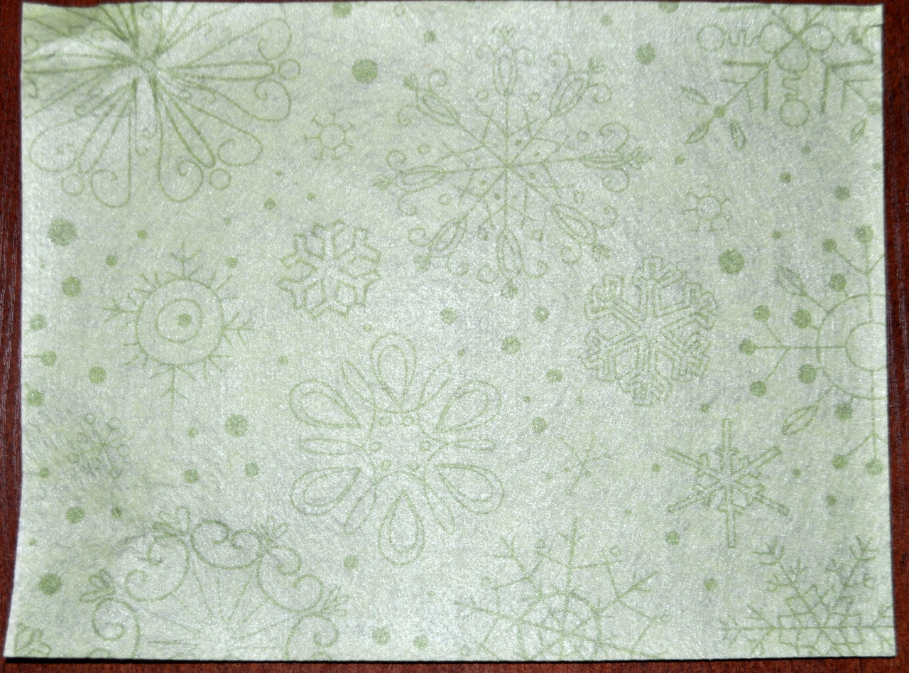 ПФ4-022. Фетр с принтом Снежинки (20х30 см, 1мм)