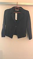 Детский пиджак темный на девочку116-152