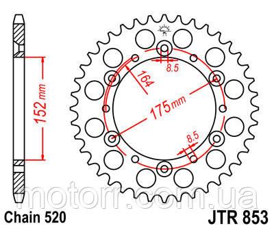 Задняя звезда JT JTR853.44