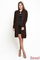 Женская вязаная теплая накидка-пальто