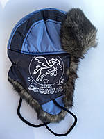 Зимняя шапка-ушанка для мальчика Богдан, размер 54-56 см
