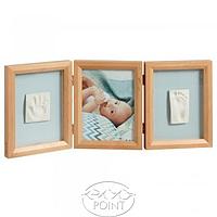 Тройная рамочка с отпечатками Baby Art натуральная, 1 шт, Baby Art