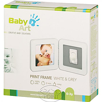 Набор Baby Art Print  Frame white & grey, 1 шт, Baby Art