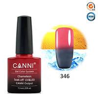Термо гель-лак Canni 346 розово-серый