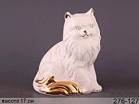 Статуэтка Кошка 17 см фарфор 276-127