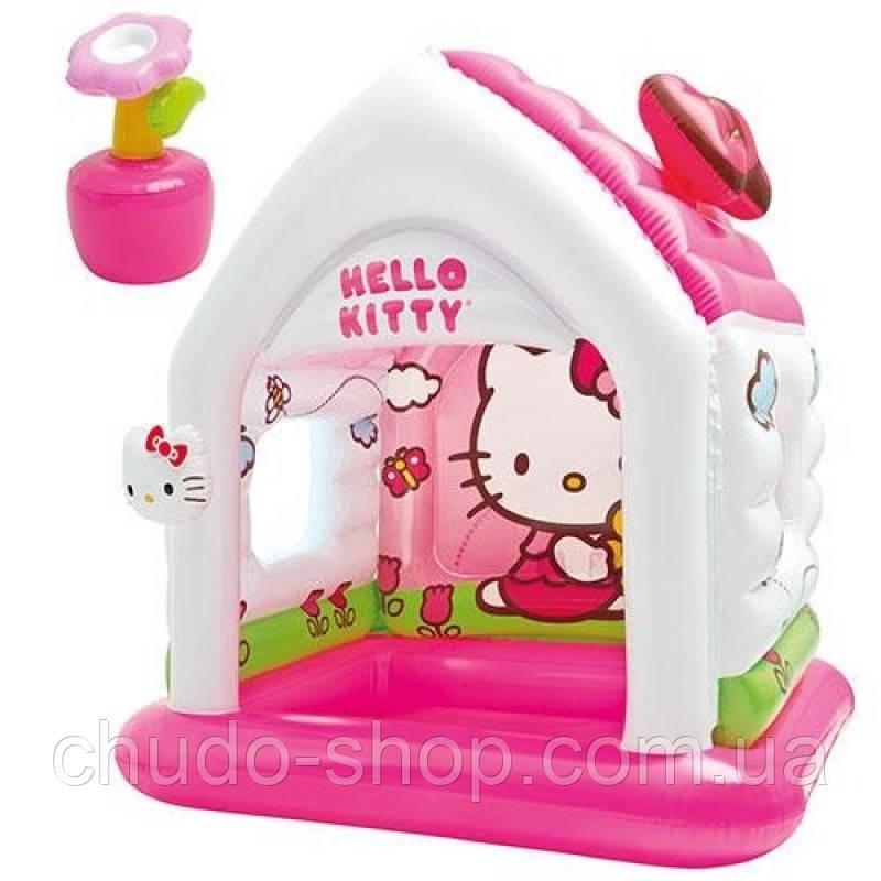 Игровой центр 48631 (3шт) домик,Hello Kitty,с надувными игрушками,137-109-122см,в кор-ке,41-36-11см