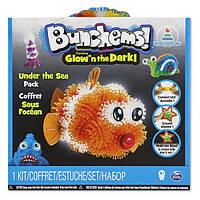 """Конструктор липучка Bunchems Банчемс """"Подводный мир"""" Mega Pack 200 деталей (светящийся), фото 1"""