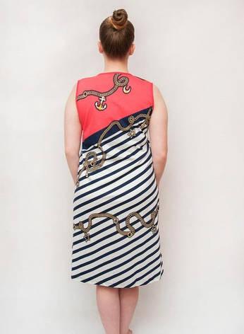 Женский халат летний большего размера косая линия, фото 2