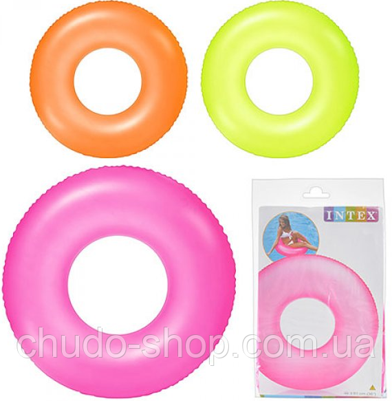Круг 59262 (24шт) неоновый, 3 цвета, в кульке, 23,5-16см
