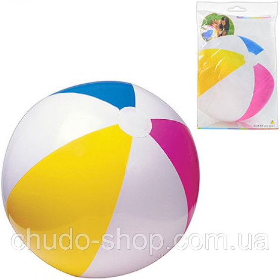 Надувной мяч Intex 59030 разноцветный, 61 см