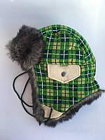 Зимняя шапка-ушанка для мальчика Денис, размер 54-56 см