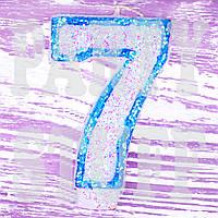 Свеча цифра для торта 7