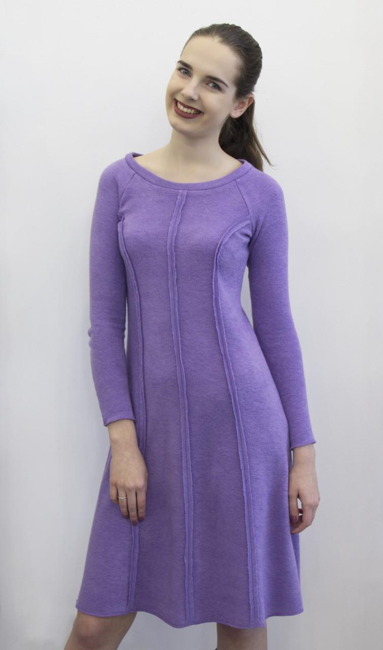 Платье из ангоры цвета сирень