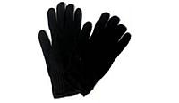 Перчатки вязаные черные зимние