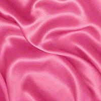 Атласная ткань - цвет ярко-розовый