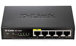 Комутатор D-Link DES-1005P 5port 10/100BaseTX (1port PoE)