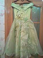 Нежное салатовое детское платье на 7-10 лет