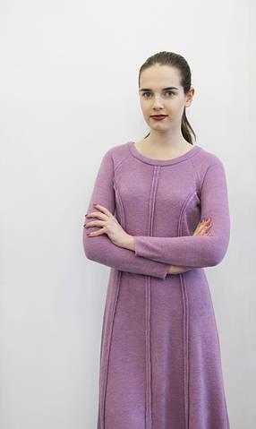 Платье из ангоры цвета розовый-кварц