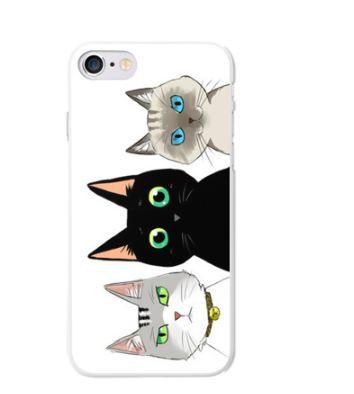 Оригинальный чехол панель накладка для Iphone 7 Plus с принтом Три кота