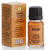 Аюрведическое масло для лица и тела Anti-Aging, 10 мл, Khadi