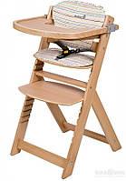 Стульчик для кормления Safety 1st Timba с подушкой Safety 1st стул для кормления TIMBA натуральный с подушкой Red Dots