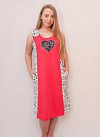 Женское платье летнее большего размера сердечко