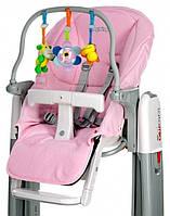 Набор игрушечный для детского стульчика Peg Perego, цвет IN29 Набір для дитячого стільця Tatamia (чехол та играшкова панель), рожевий