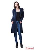Женское вязаное осеннее пальто