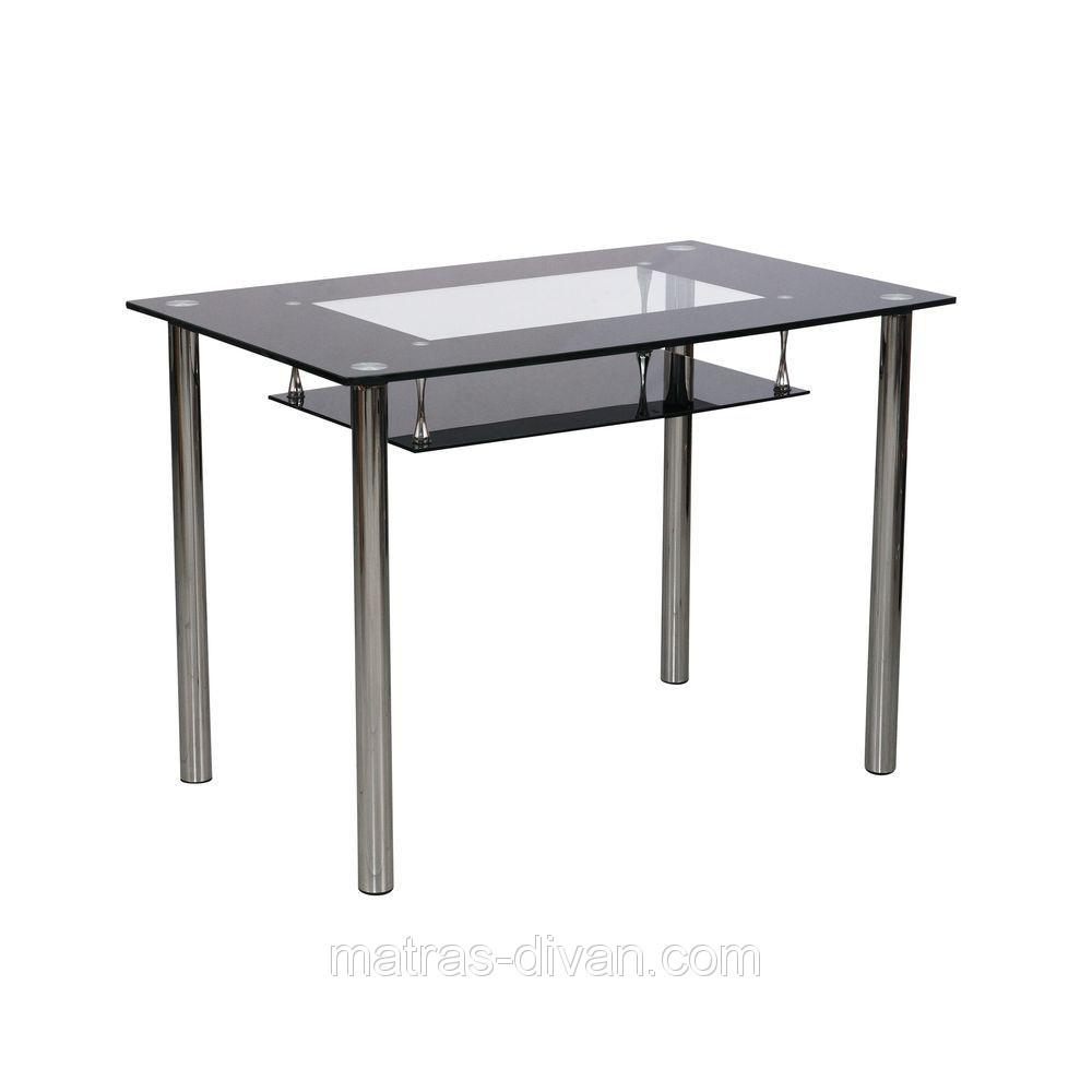 Стол обеденный D-102-S каркас хром, тонированное закаленное стекло