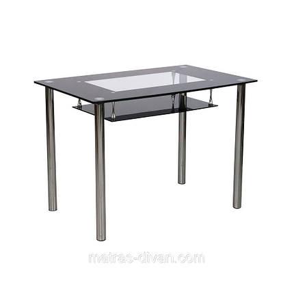 Стол обеденный D-102-S каркас хром, тонированное закаленное стекло, фото 2
