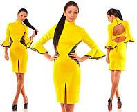 Платье с двумя вырезами на спине дайвинг