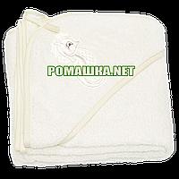 Детское махровое (петля нормальная) уголок-полотенце после купания 95х95 см ТМ Ярослав 1568 Бежевый
