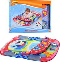 Коврик для младенца 0832 NL (6шт)Автогонщик,подушка,муз,свет,погрем 3шт,на бат-ке,в кор-ке,46-36-6см