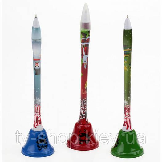 Колокольчик - ручка  Новогодний , 3 вида