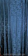 Портьера жаккрад темно синяя