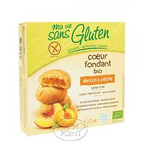 Органическое безглютеновое бесквитное печенье с начинкой персик - абри, 200 г, Ma Vie Sans Gluten