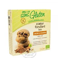 Органическое безглютеновое бесквитное печенье с начинкой какао-фундук, 200 г, Ma Vie Sans Gluten