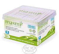 Органические гигиенические ушные палочки, 200 шт, Masmi