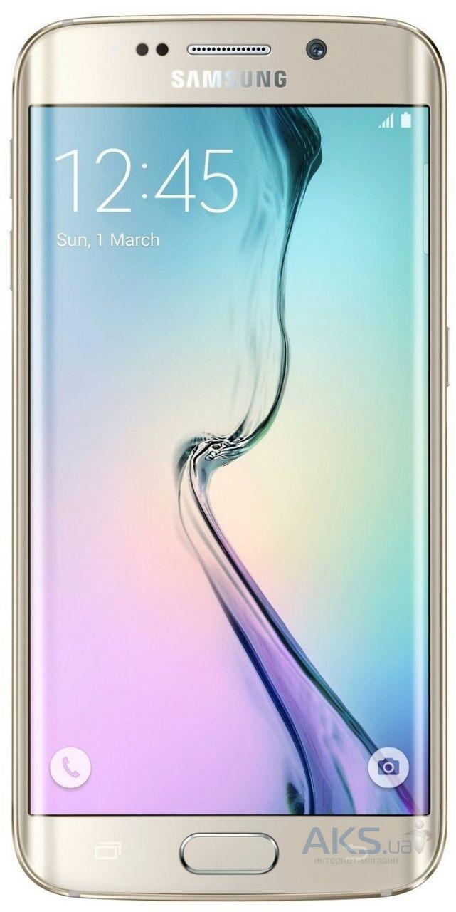 Дисплей (экран) для телефона Samsung Galaxy S6 EDGE G925F + Touchscreen with frame Original Gold