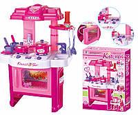 Розовая игрушечная кухня 008-26