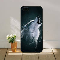 Яркие оригинальные чехлы накладки для Iphone 7 Plus с картинкой Акварель Волк
