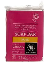 Органическое твердое мыло Роза, 100 г, Urtekram