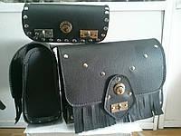 Кофры боковые портфели + батон (багажник) комплект 3 шт. для Мотоцикла