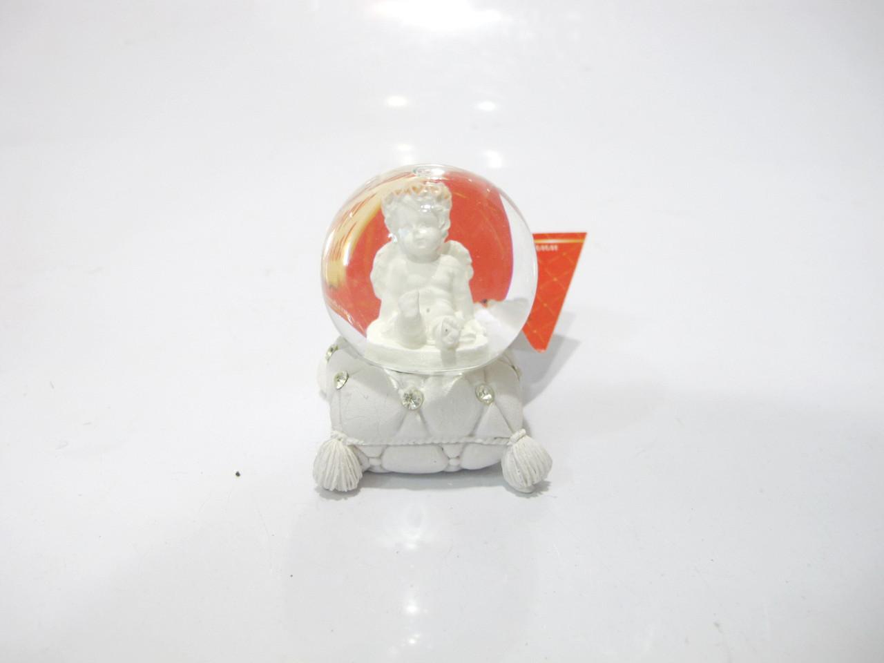 Декоративный водяной шар ангел на подушке №2