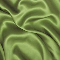 Атласная ткань - цвет оливковый