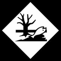 Знак опасности - Вещество, опасное для окружающей среды Наклейка / табличка