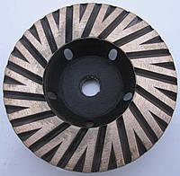 Фреза алмазная торцевая  для шлифовки гранита Turbo 100х23х8/5хM14 № 3 мелкое