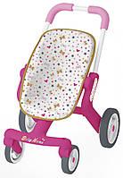 Прогулочная коляска для кукол Baby Nurse Smoby с поворотными колёсами (251223)